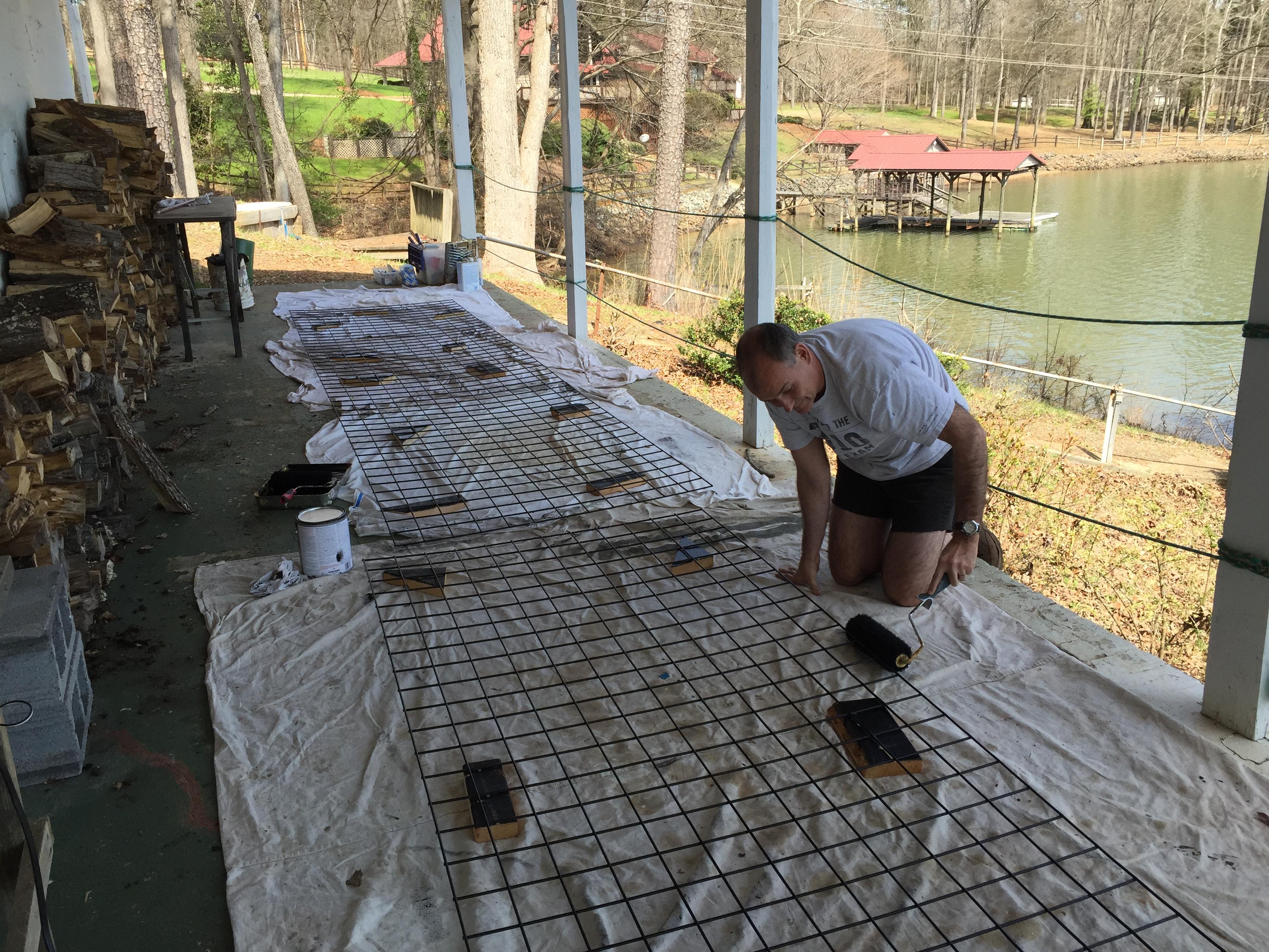 Hog wire Railing | lake living clt